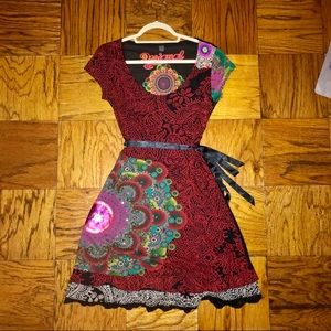 Large DESIGUAL Fit & Flare Dress